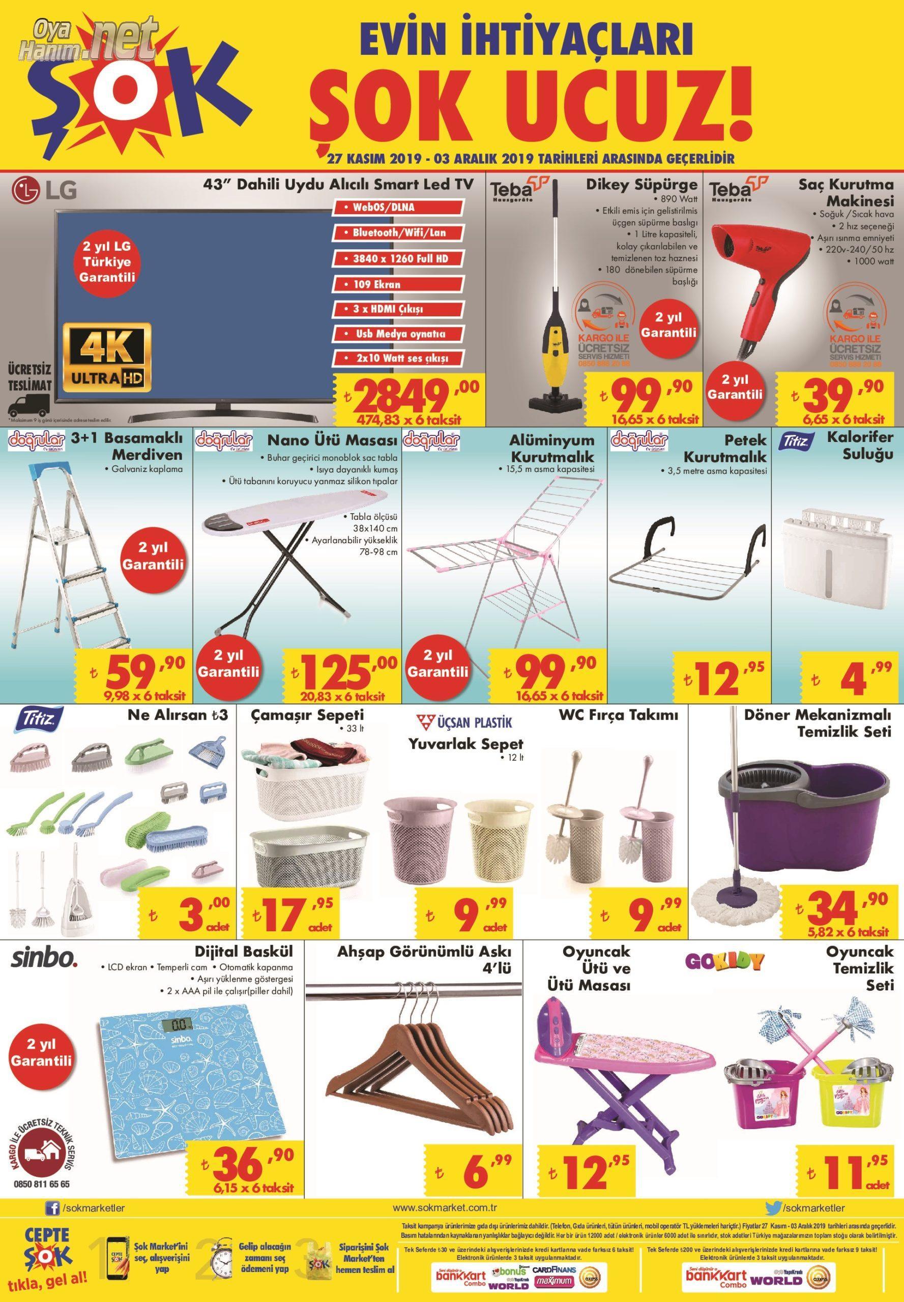 Şok Market 27 Kasım Aktüel Ürünler
